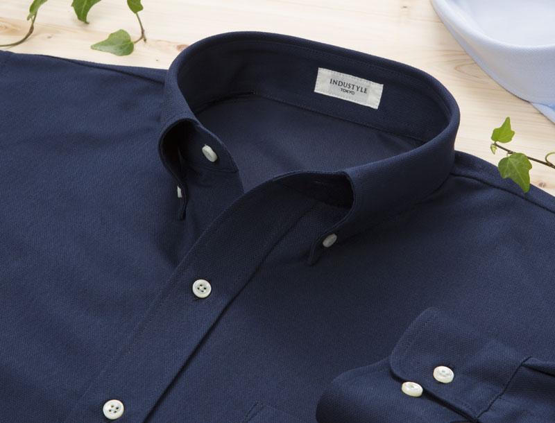 【クールビズにおすすめの長袖シャツ07】下町の町工場が仕立てた動体裁断シャツです。