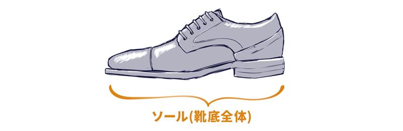 いわゆる靴底のことにふれていきます。