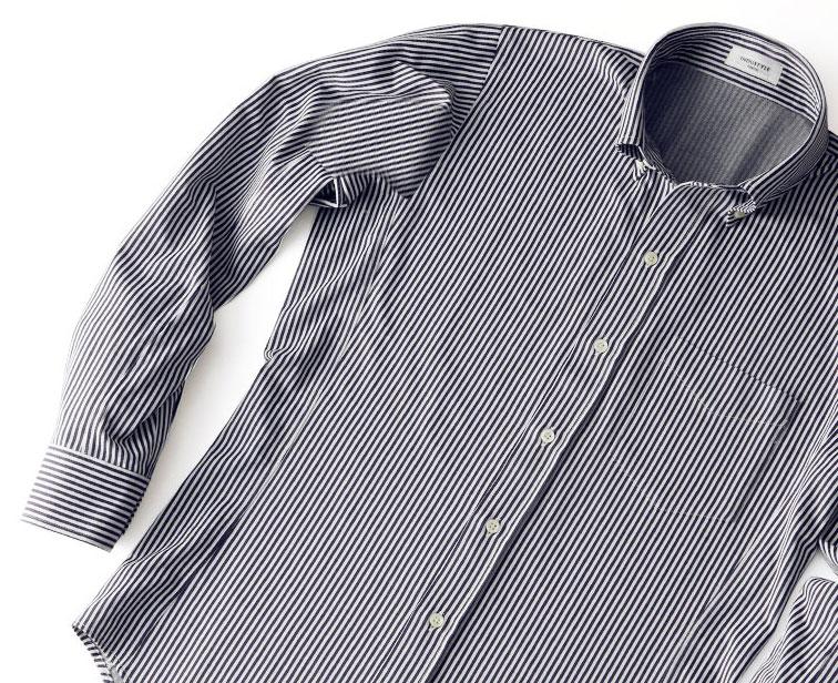 いわゆるお洒落を追及していない人であっても、「綺麗に身体にフィットするシャツ」というのは、やはりシンプルに憧れるものなのではないでしょうか。